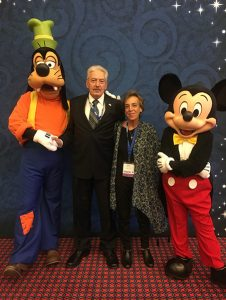 Walter Ginter (MARS director) with Goofy Alison Knopf and Mickey